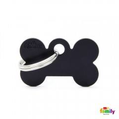 MY FAMILY BASIC BLACK BONE SMALL TAG 3X2CM