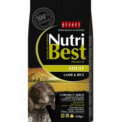 PICART NUTRIBEST LAMB & RICE 15KG