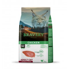 BRAVERY GRAIN FREE CAT ADULT STERILIZED CHICKEN 2KG