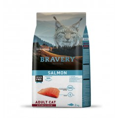 BRAVERY GRAIN FREE CAT ADULT STERILIZED SALMON 2KG