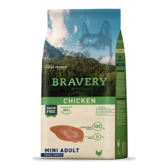 BRAVERY GRAIN FREE ADULT MINI CHICKEN DOG 2KG