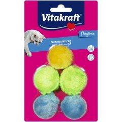 Vitakraft 5 βελούδινες μπάλες παιχνίδι γάτας
