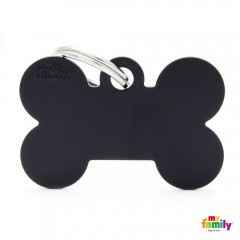 MY FAMILY BASIC BLACK BONE LARGE TAG 4X2CM