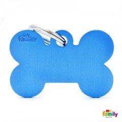 ΤΑΥΤΟΤΗΤΑ ΣΚΥΛΟΥ MY FAMILY BASIC BLUE BONE TAG LARGE 4x2cm