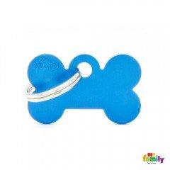 ΤΑΥΤΟΤΗΤΑ ΣΚΥΛΟΥ MY FAMILY BASIC BLUE BONE TAG SMALL 3x2cm