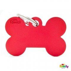 ΤΑΥΤΟΤΗΤΑ ΣΚΥΛΟΥ MY FAMILY BASIC RED BONE TAG LARGE 4x2cm