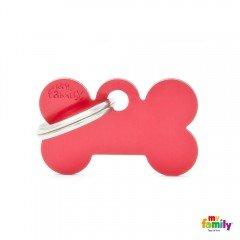 ΤΑΥΤΟΤΗΤΑ ΣΚΥΛΟΥ MY FAMILY BASIC RED BONE TAG SMALL 3x2cm