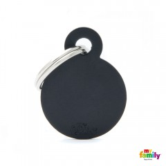 MY FAMILY BASIC BLACK ROUND SMALL TAG 3X2CM