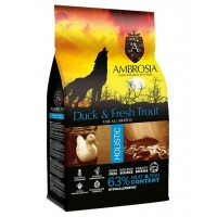 AMBROSIA GRAIN-FREE DOG ADULT FRESH TROUT & DUCK 12KG ΞΗΡΑ ΤΡΟΦΗ ΣΚΥΛΟΥ
