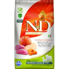 N & D GRAIN FREE PUMPKIN BOAR AND APPLE ADULT MEDIUM & MAXI 2,5KG