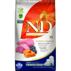 N & D GRAIN FREE PUMPKIN LAMB & BLUEBERRY PUPPY MEDIUM & MAXI 2,5KG