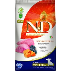 N & D GRAIN FREE PUMPKIN LAMB & BLUEBERRY PUPPY MINI 7KG