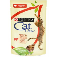 Cat Chow Adult Σε Ζελέ 85gr Βοδινό Και Μελιτζάνα