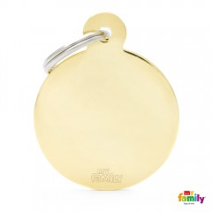 MY FAMILY BASIC GOLD ROUND LARGE TAG 4X3CM