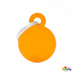 MY FAMILY BASIC ORANGE ROUND SMALL TAG 3X2CM