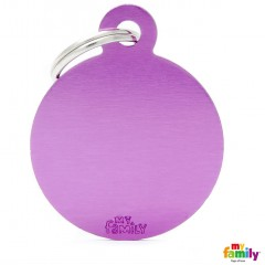 MY FAMILY BASIC ROUND PURPLE LARGE TAG 4X3CM