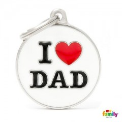 ΤΑΥΤΟΤΗΤΑ ΣΚΥΛΟΥ MY FAMILY CHARMS I LOVE DAD