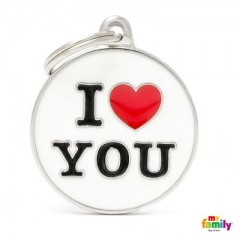 ΤΑΥΤΟΤΗΤΑ ΣΚΥΛΟΥ MY FAMILY CHARMS I LOVE YOU