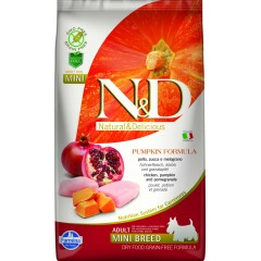 N & D GRAIN FREE PUMPKIN CHICKEN & POMEGRANATE ADULT MINI 2,5KG