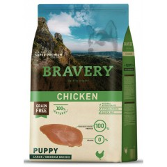 BRAVERY GRAIN FREE PUPPY MEDIUM - LARGE DOG 12KG