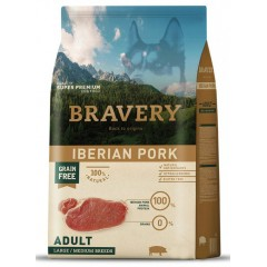 BRAVERY GRAIN FREE ADULT MEDIUM - LARGE IBERIKO (ΑΓΡΙΟΧΟΙΡΟΣ) DOG 12KG