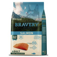 BRAVERY GRAIN FREE ADULT MEDIUM - LARGE SALMON DOG 12KG
