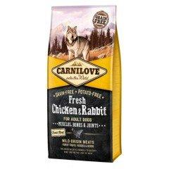 Carnilove Adult Fresh Chicken & Rabbit 12kg + 1,5kg Δώρο