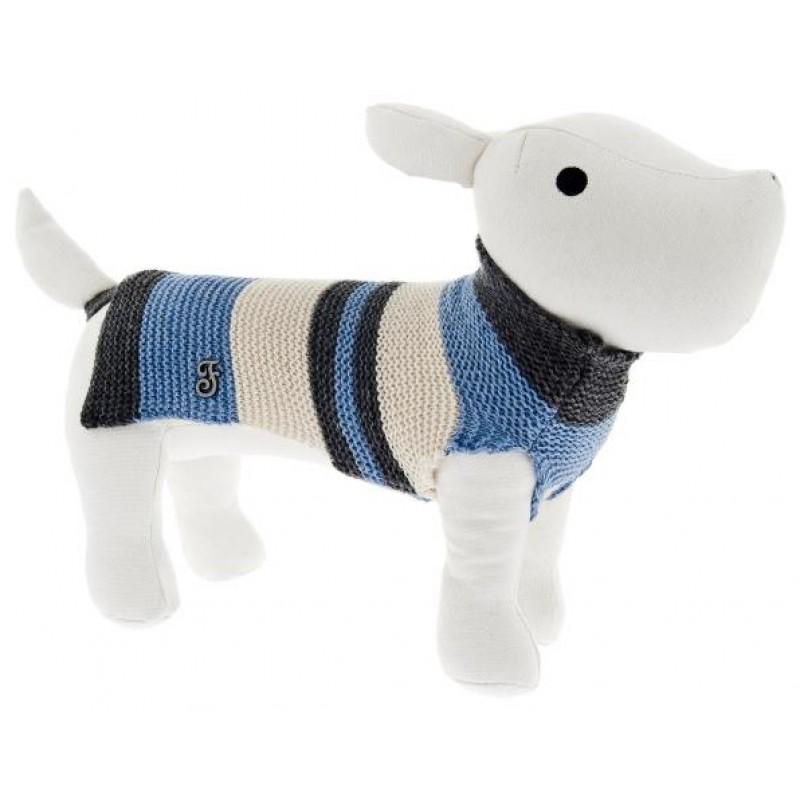 Ρουχαλάκι Σκύλου Ferribiella Tricot Sweater 36cm Blue ΡΟΥΧΑ - ΒΡΑΚΑΚΙΑ ΣΚΥΛΟΥ