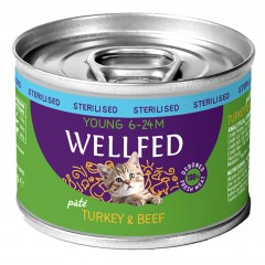 WELLFED YOUNG STERILIZED TURKEY AND BEEF 200gr x12τμχ