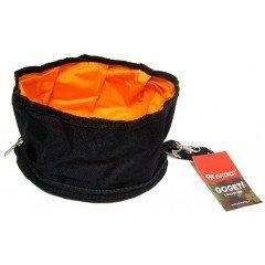 Go Get Αναδιπλούμενο μπολ νερού ή φαγητού μαύρο 20x10cm