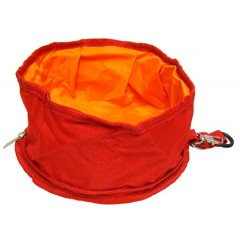 Go Get Αναδιπλούμενο μπολ νερού ή φαγητού κόκκινο 20x10cm