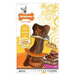 Nylabone Flavor Frenzy Rubber Chew, Meatloaf & Gravy Small