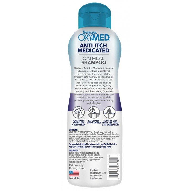 OXYMED  MEDICATED OATMEAL  SHAMPOO ANTI-ITCH - ΣΤΑΜΑΤΑΕΙ ΑΜΕΣΑ ΤΟΝ ΚΝΗΣΜΟ 592ML ΣΑΜΠΟΥΑΝ ΘΕΡΑΠΕΥΤΙΚΑ