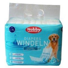 Πάνες-Βρακάκια για αρσενικά σκυλάκια της Nobby L-XL (60-80cm) 12 τεμάχια
