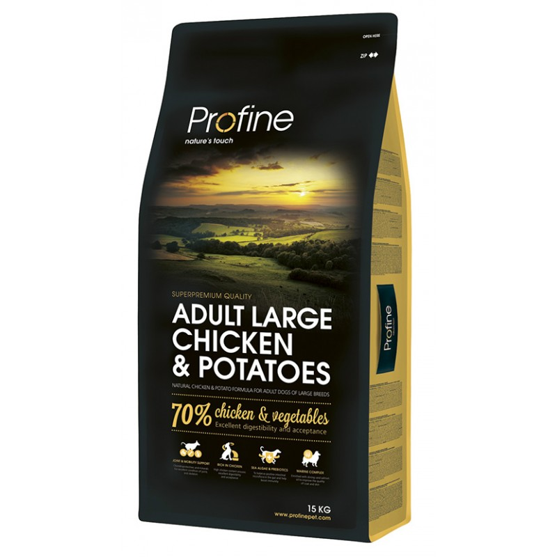 PROFINE ADULT LARGE CHICKEN & POTATOES 15Kg ΞΗΡΑ ΤΡΟΦΗ ΣΚΥΛΟΥ