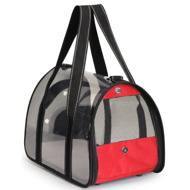 Τσάντα Μεταφοράς Camon Transparent Cover 48x29x29cm Κόκκινη ΤΣΑΝΤΕΣ ΜΕΤΑΦΟΡΑΣ ΓΑΤΑΣ