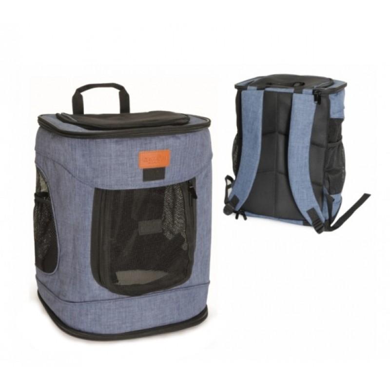 Τσάντα Μεταφοράς  Σακίδιο Πλάτης Camon Dog Fashion 34x30x43cm Μπλε ΤΣΑΝΤΕΣ ΜΕΤΑΦΟΡΑΣ ΓΑΤΑΣ