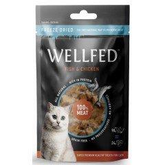 Λιχουδιές Γάτας Wellfed Freeze Dried με Σολομό και Κοτόπουλο 24gr