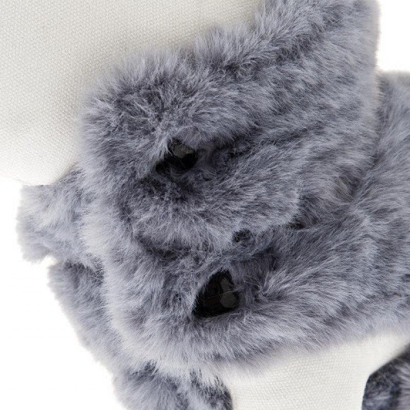 Γούνινο Μπουφανάκι Ferribiella Gemma 39cm Γκρι ΡΟΥΧΑ - ΒΡΑΚΑΚΙΑ ΣΚΥΛΟΥ