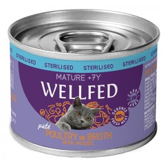 WELLFED MATURE 7+ POULTRY WITH MUSSEL 200gr x12τμχ