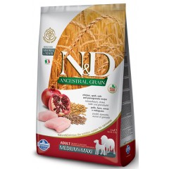 N&D LOW GRAIN ΚΟΤΟΠΟΥΛΟ & ΡΟΔΙ ADULT MEDIUM & MAXI 12KG