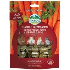 Λιχουδιές Τρωκτικών Oxbow Simple Rewards Baked με καρότο και άνιθο 56gr