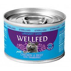 WELLFED URINARY CHICKEN & BEEF WITH CRANBERRIES 200gr