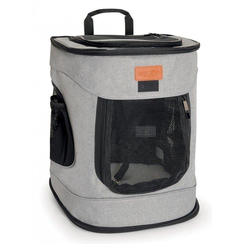 Τσάντα Μεταφοράς  Σακίδιο Πλάτης Camon Dog Fashion 34x30x43cm Γκρι ΤΣΑΝΤΕΣ ΜΕΤΑΦΟΡΑΣ ΓΑΤΑΣ