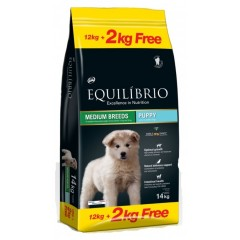 EQUILIBRIO PUPPY MEDIUM BREEDS 12KG +2KG ΔΩΡΟ