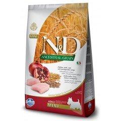 N&D LOW GRAIN ΚΟΤΟΠΟΥΛΟ & ΡΟΔΙ ADULT MINI  2.5KG