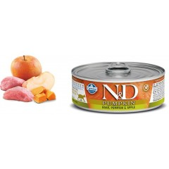N & D CAT PUMPKIN BOAR & APPLE WET FOOD 80GR (6+ 6 ΔΩΡΟ)