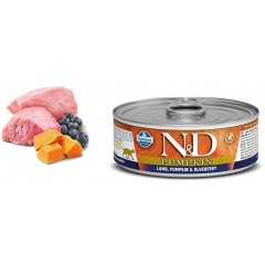 N & D CAT PUMPKIN LAMB & BLUEBERRY WET FOOD 80GR (6 + 6 ΔΩΡΟ)