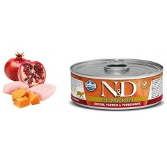 N & D CAT PUMPKIN CHICKEN & POMEGRANATE WET FOOD 80GR (6 + 6 ΔΩΡΟ)