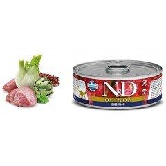 N & D CAT QUINOA DIGESTION WET FOOD 80GR (1 + 1 ΔΩΡΟ)